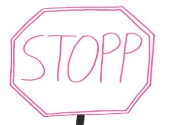 Stopp sagen zu störenden Gedanken
